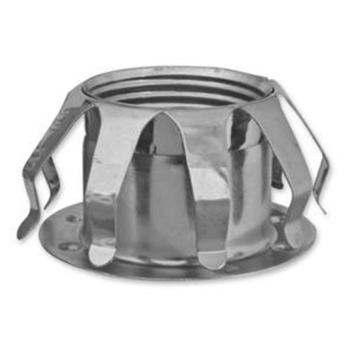Metallfederring, E14, mit Tellerhüllse, verchromt