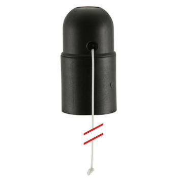 Iso-Fassung, E27, schwarz, mit Zugschalter