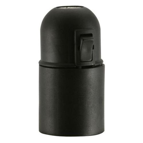 Iso-Fassung, E27, schwarz mit Wippschalter