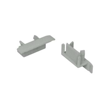 Endkappe für U-Profil mit Kragen, B 16/24 mm, Ledissimo