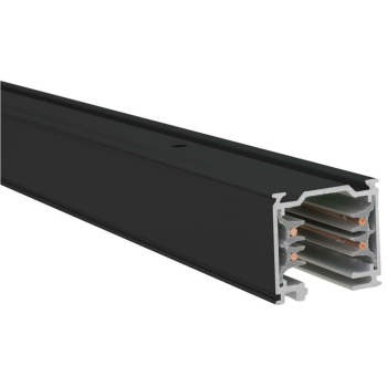 3-Phasen-Stromschiene, 1m, Aluminium schwarz Ivela...