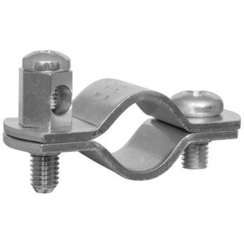 Erdungsrohrschelle, 3/8 Zoll, Stahlband verzinkt