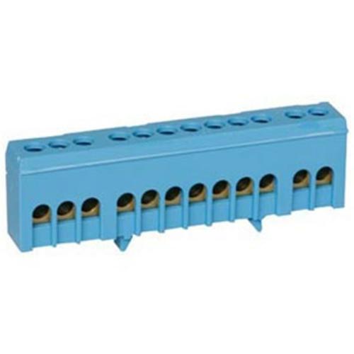 Neutralleiterklemme für Normschiene, 12-polig, 16 mm²