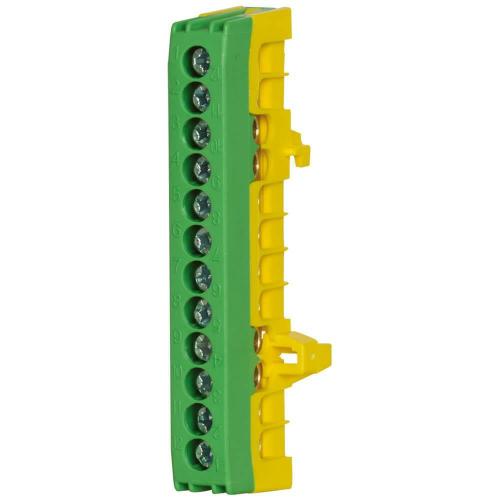 Schutzleiterklemme für Normschiene, 16 mm², 12-polig