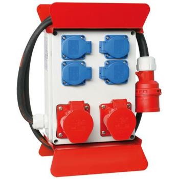 PCE Mobil-Steckdosenverteiler, 4x Schutzkontakt, 2 x CEE,