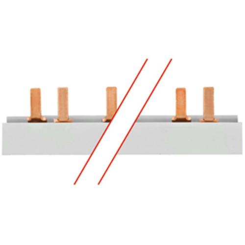 ABB Phasenschiene, 16², Stiftausführung, 19 x 3 TE für LS-Schalter