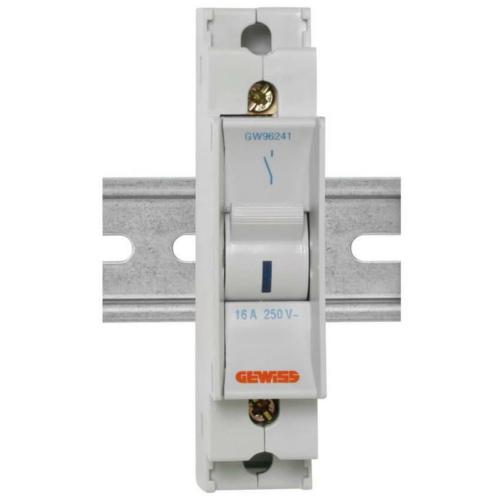 Gewiss Einbaugerät, Kipp-A-Schalter mit Signallampe,16A, 1-polig