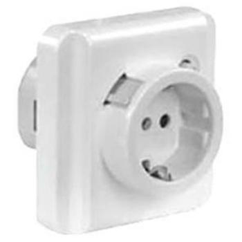 Gewiss UP Steckdose mit FI-Schalter, weiß, 16A/0,03A