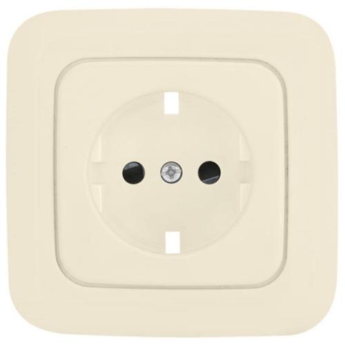 Komplett-Steckdosenplatte, UP, weiß, Klein SI®