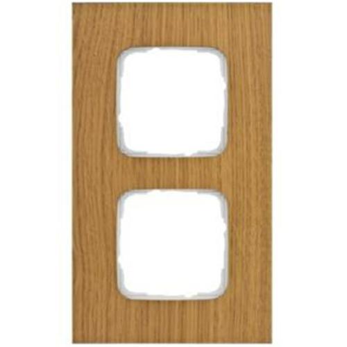 Abdeckrahmen, 2-fach, Holz Eiche, Klein SI®
