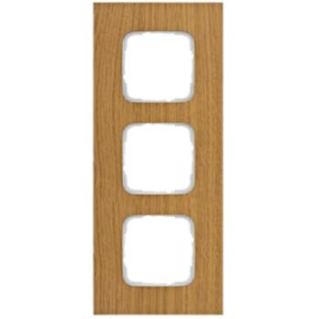 Abdeckrahmen, 3-fach, Holz Eiche, Klein SI®
