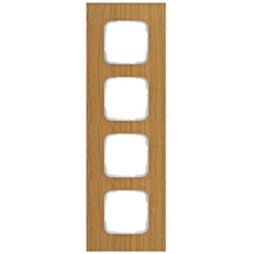 Abdeckrahmen, 4-fach, Holz Eiche, Klein SI®