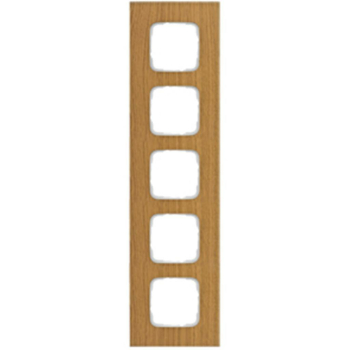 Abdeckrahmen, 5-fach, Holz Eiche, Klein SI®