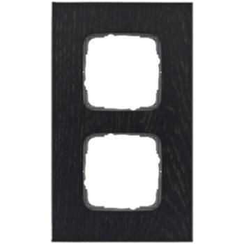 Abdeckrahmen, 2-fach, Holz Eiche Wenge, Klein SI®