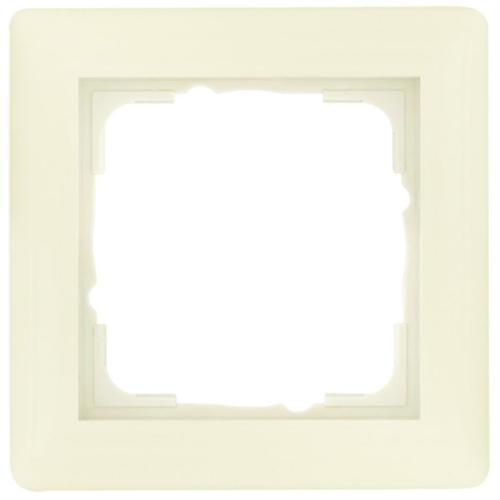 Gira System 55 Abdeckrahmen 1-fach, cremeweiß