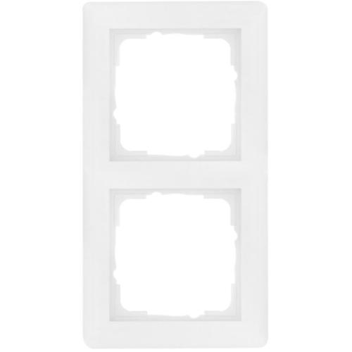 Gira System 55 Abdeckrahmen 2-fach, reinweiß