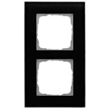 Glasrahmen, 2-fach, schwarz, Klein K55