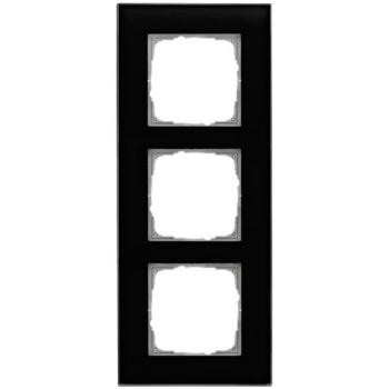 Glasrahmen, 3-fach, schwarz, Klein K55