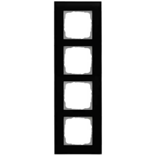 Glasrahmen, 4-fach, schwarz, Klein K55