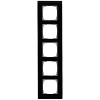 Glasrahmen, 5-fach, schwarz, Klein K55