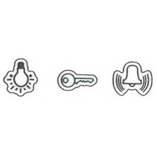 Symbolaufkleber, Licht/Klingel/Tür, Klein