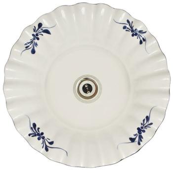 Pendelleuchte aus Keramik, blaues Blumenmuster,...