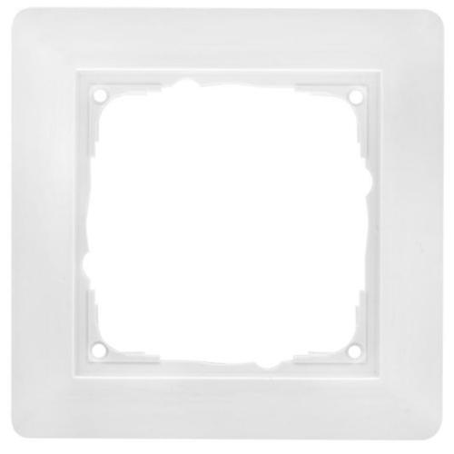 Abdeckrahmen, Kunststoff reinweiß, 1-fach, Klein, i55 x 55 mm