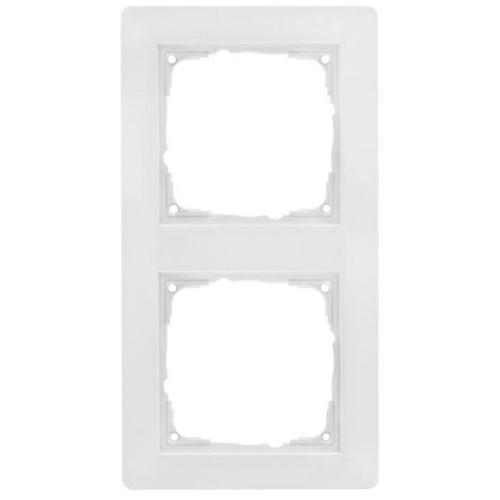 Abdeckrahmen, Kunststoff reinweiß, 2-fach, Klein, i55 x 55 mm