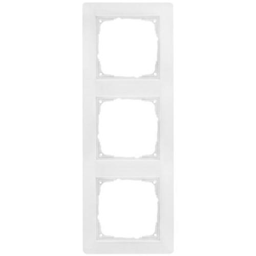 Abdeckrahmen, Kunststoff reinweiß, 3-fach, Klein, i55 x 55 mm