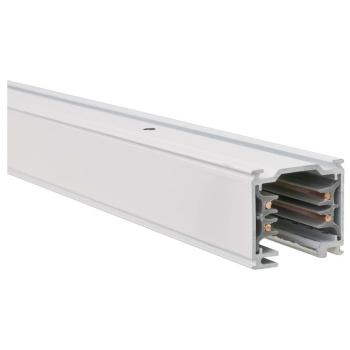 3-Phasen-Stromschiene 2m, Aluminium weiß