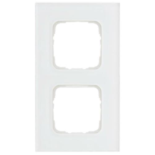 Abdeckrahmen, 2-fach, Glas klar, Klein SI®