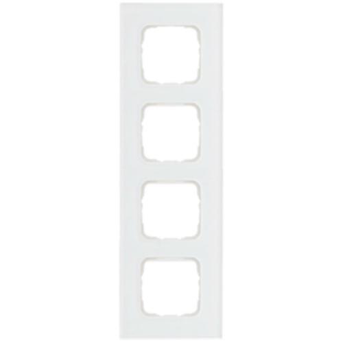 Abdeckrahmen, 4-fach, Glas klar, Klein SI®