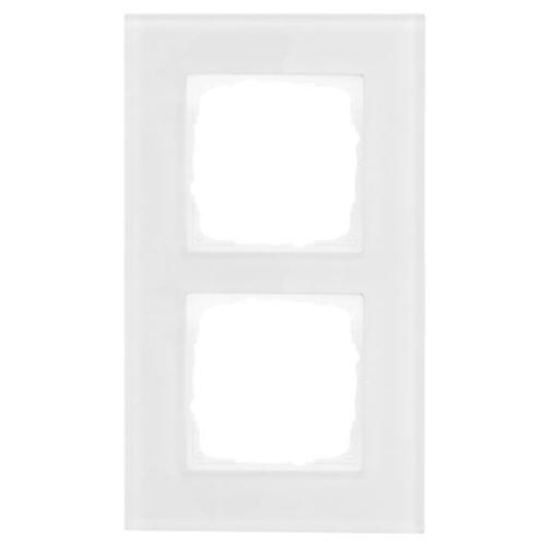 Abdeckrahmen, 2-fach, Glas klar, Klein K55