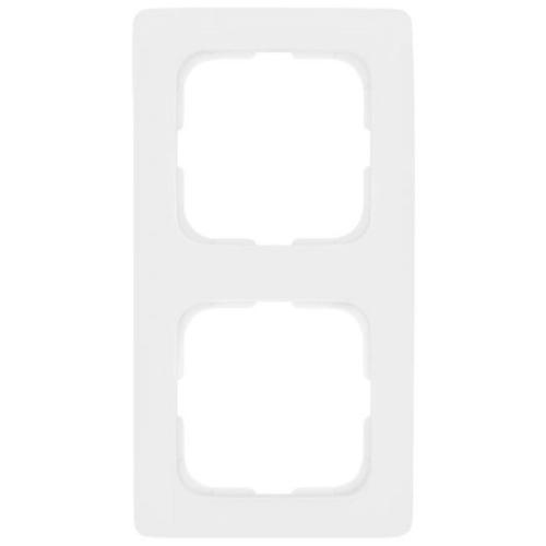 Abdeckrahmen, 2-fach, reinweiß, Linear, Klein SI®