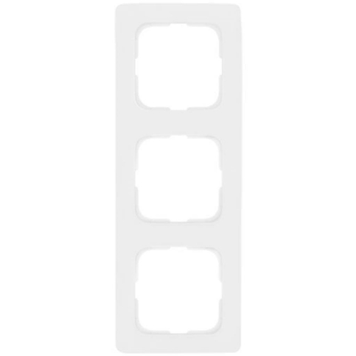 Abdeckrahmen, 3-fach, reinweiß, Linear, Klein