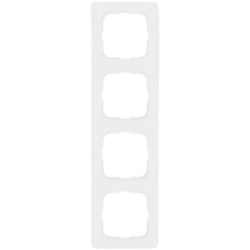 Abdeckrahmen, 4-fach, reinweiß, Linear, Klein