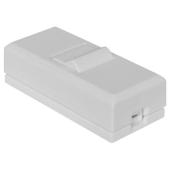 Schnurschalter weiß, 250V/2A, 1-polig, inter BÄR