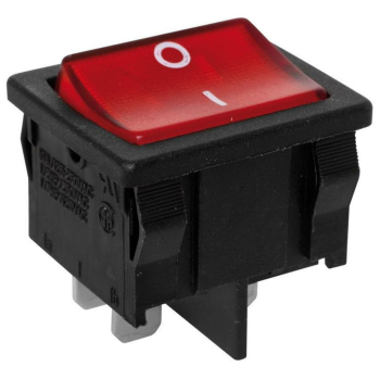 Einbauschalter beleuchtet, schwarz/rot, interBÄR