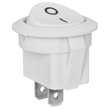 Einbauschalter rund, weiß, 250V/6,5A, interBÄR