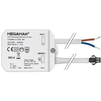 Konstantstrom-Netzteil, 16-21V/max. 9W, 350mA, MEGAMAN