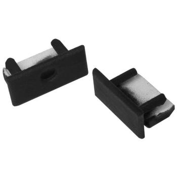 Entdkappen aus Kunststoff für H-Profil, schwarz, 2...