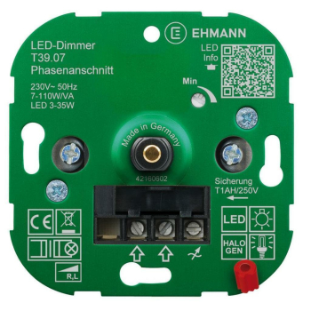 UP Dimmereinsatz, Phasenanschnitt, 7-110W LED 3-35W