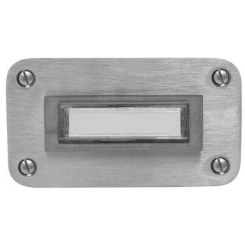 UP-Klingeltaster, Edelstahl beleuchtet, 1 Taster
