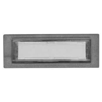 Einbau-Klingeltaster, Kunststoff grau, beleuchtet und...