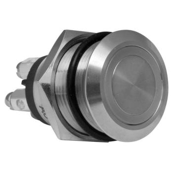 Einbau-Klingeltaster aus Edelstahl, LED Beleuchtung, rund