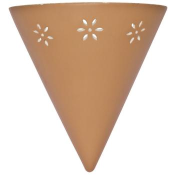 Wandleuchte aus Keramik, Terracotta 1 x E27
