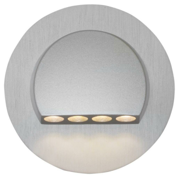 Wand- und Treppeneinbauleuchte RUBI rund, aluminium,...