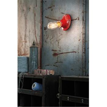 Vintage Wandleuchte aus Keramik rot, 1 x E27, Ferroluce