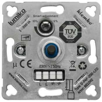 Dimmereinsatz Druck-/Wechsel, Phasenabschnitt 1-200W, KLEMKO