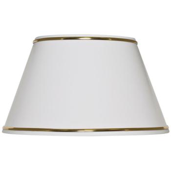 Leuchtenschirm weiß mit Metallrand